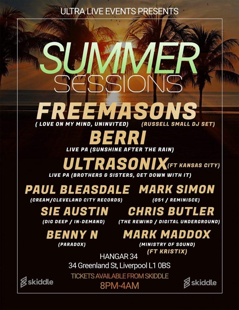 summer sessions flyer freemasons dj