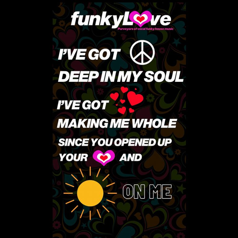 flyer for Funky Love club Leeds