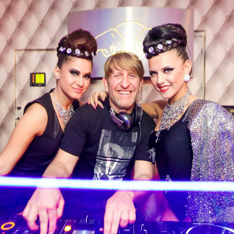 DJ Russell Small with dancers
