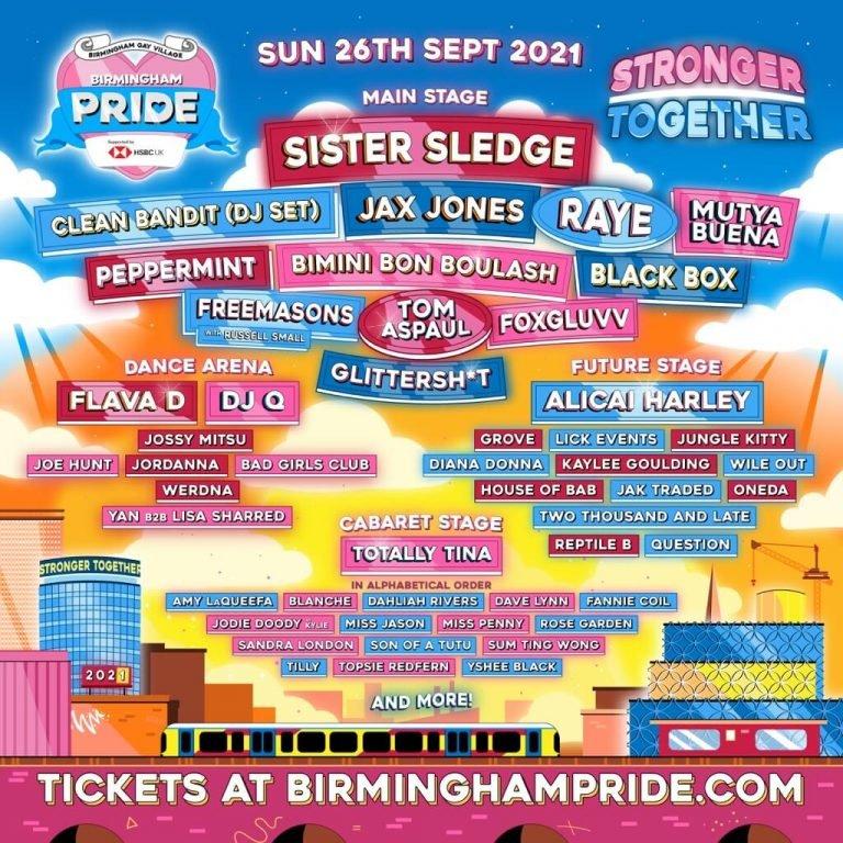 Birmingham Pride 2021 flyer
